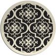 rug #1140263 | round black borders rug