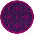 rug #1140275 | round blue traditional rug