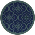 rug #1140279 | round blue traditional rug
