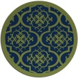rug #1140283   round blue traditional rug