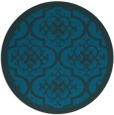 rug #1140303 | round blue traditional rug