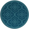 rug #1140307 | round blue-green traditional rug