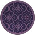 rug #1140335 | round purple damask rug