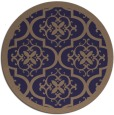 rug #1140343 | round beige traditional rug