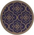 rug #1140343 | round beige damask rug