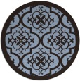 rug #1140350 | round damask rug