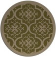 rug #1140351 | round mid-brown damask rug