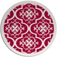 rug #1140355 | round red traditional rug