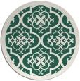 rug #1140371 | round blue-green damask rug