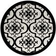 rug #1140383   round black popular rug