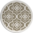 rug #1140399 | round white borders rug