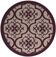 rug #1140403 | round pink traditional rug