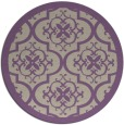 rug #1140423 | round purple traditional rug