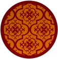 rug #1140447 | round orange borders rug