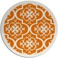 rug #1140451 | round orange damask rug