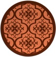rug #1140459 | round red-orange damask rug