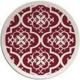 rug #1140467 | round pink borders rug