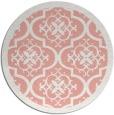 rug #1140475 | round pink rug