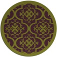 rug #1140483 | round purple damask rug