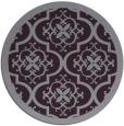 rug #1140491 | round purple damask rug