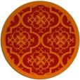 rug #1140499   round orange borders rug