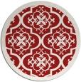 rug #1140503 | round red borders rug