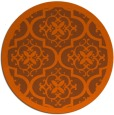 rug #1140519 | round red-orange traditional rug