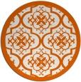 rug #1140523 | round red-orange borders rug