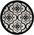 rug #1140527 | round white traditional rug