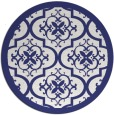 rug #1140535 | round white traditional rug