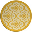 rug #1140555 | round yellow traditional rug