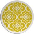 rug #1140563 | round yellow borders rug