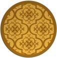 rug #1140567 | round yellow borders rug