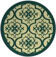 rug #1140571 | round yellow damask rug