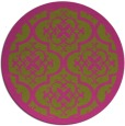 rug #1140583 | round pink borders rug