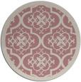 rug #1140595   round pink borders rug