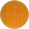 rug #1140599 | round light-orange damask rug