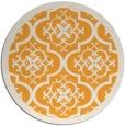 rug #1140603 | round light-orange traditional rug
