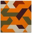rug #1140975 | square orange retro rug