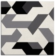 rug #1140979 | square white retro rug