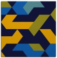 rug #1141007 | square blue graphic rug