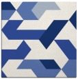 rug #1141023 | square blue graphic rug