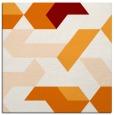 rug #1141187 | square orange geometry rug