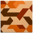 rug #1141251 | square red-orange abstract rug