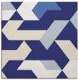rug #1141271 | square blue retro rug