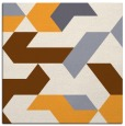 rug #1141339 | square light-orange retro rug