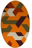 rug #1141343 | oval beige geometry rug