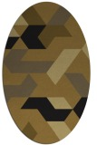 rug #1141363 | oval graphic rug