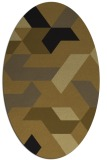 rug #1141365 | oval abstract rug