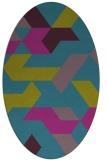 rug #1141424 | oval graphic rug